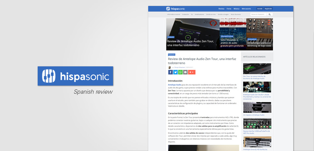 hispasonic zenTour review