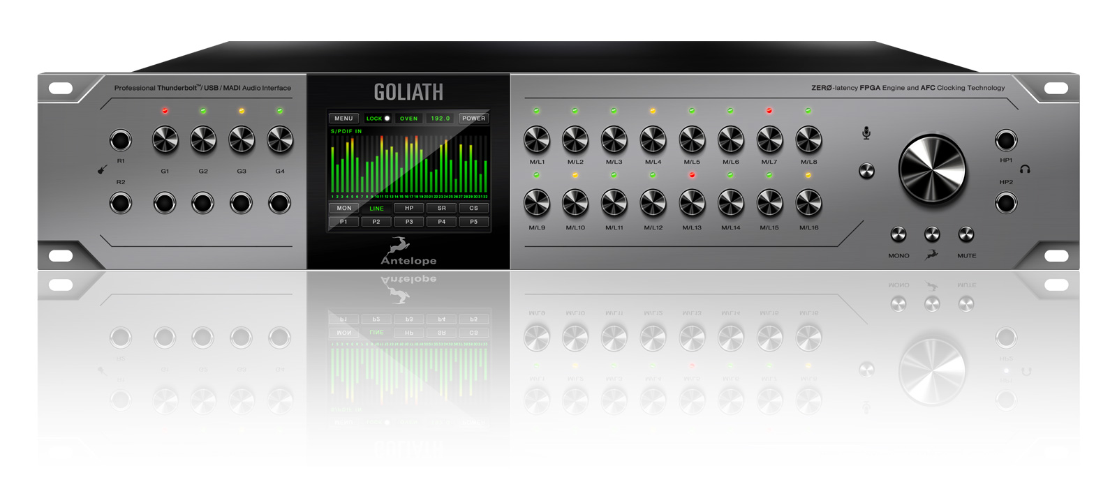 Goliath front - audio interface