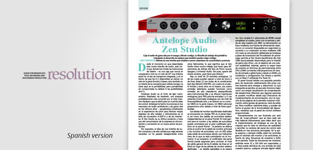 resolution ES zen studio