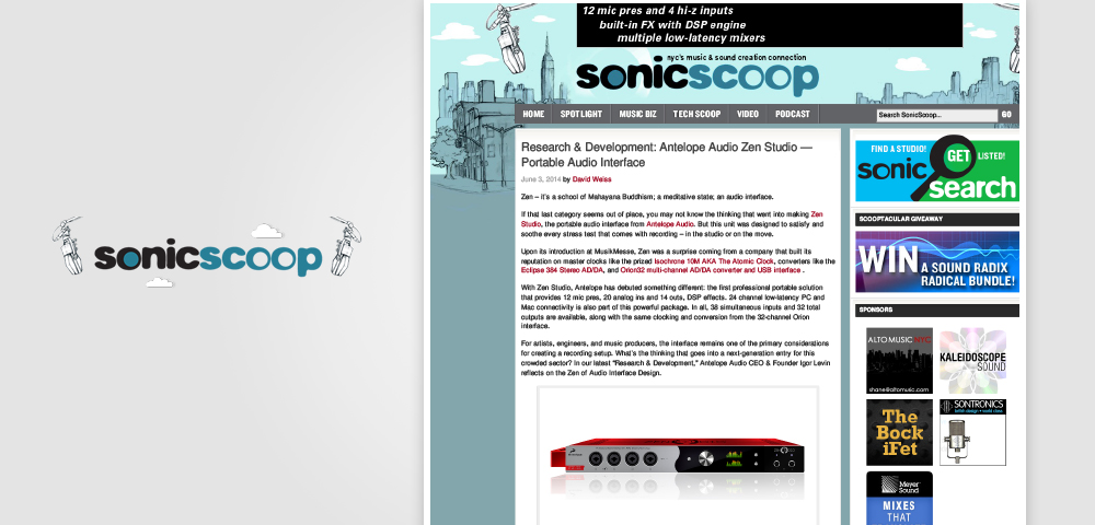 sonicscoop zen studio