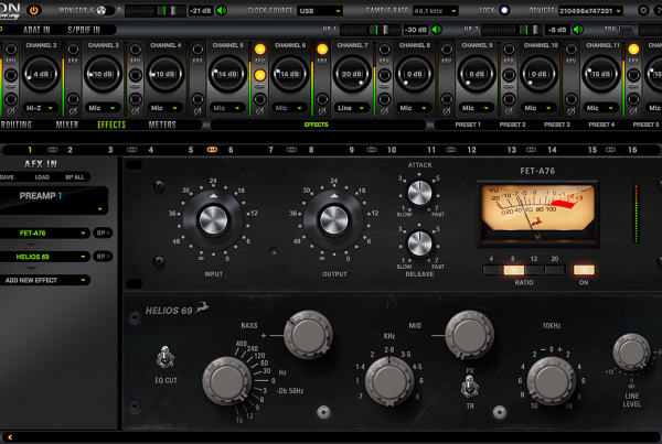 Fet-A76 and Helios 69 hardware-based EQ effect