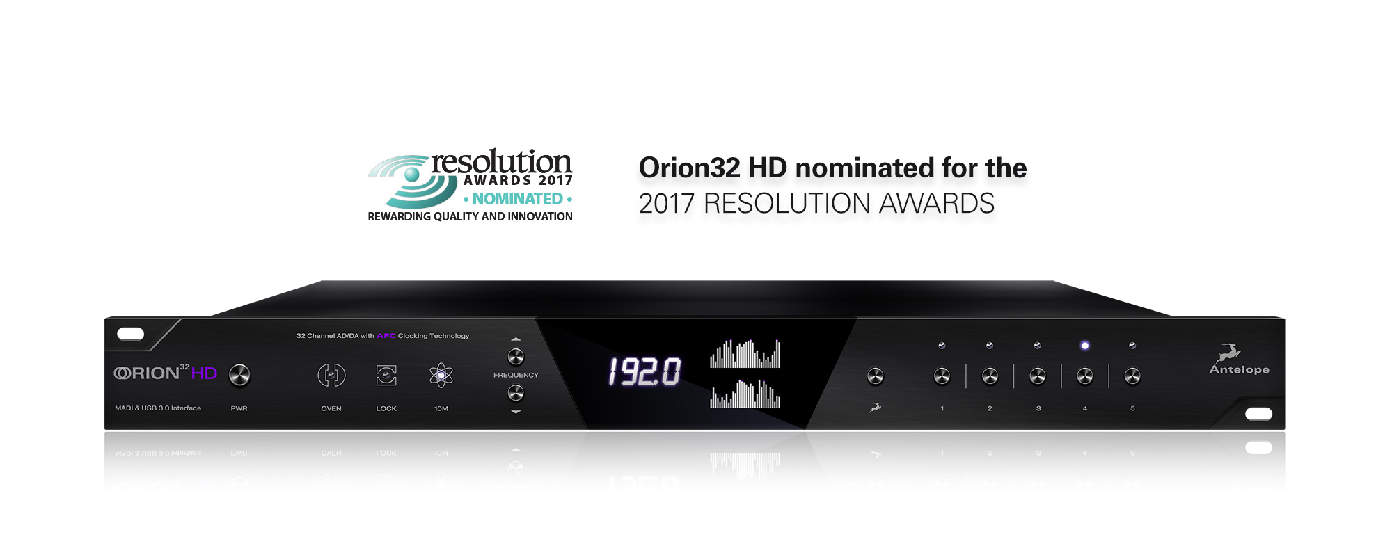 Orion32 HD nominated for the 2017 Resolution Magazine Awards