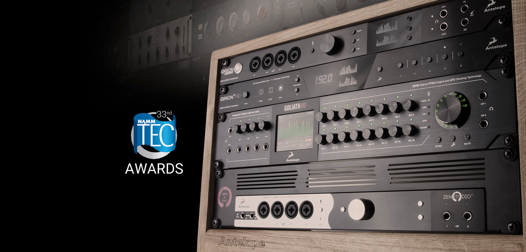 Four NAMM TEC Awards nominations for Antelope Audio in 2017